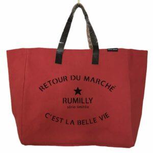 Sac Retour de Marché Rumilly coloris rouge