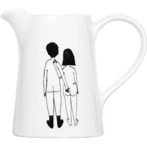Petit pichet en porcelaine Naked Couple