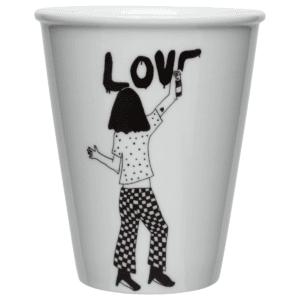 Tasse en porcelaine Love