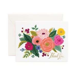 Carte de Remerciements JULIET ROSE