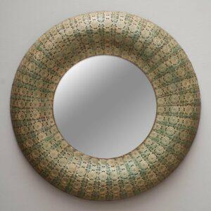 Miroir mural SHABBY métal vert