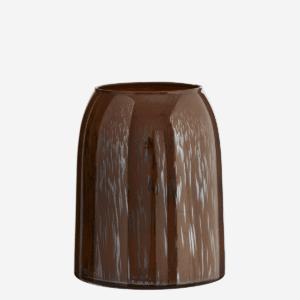 Vase en verre Marron