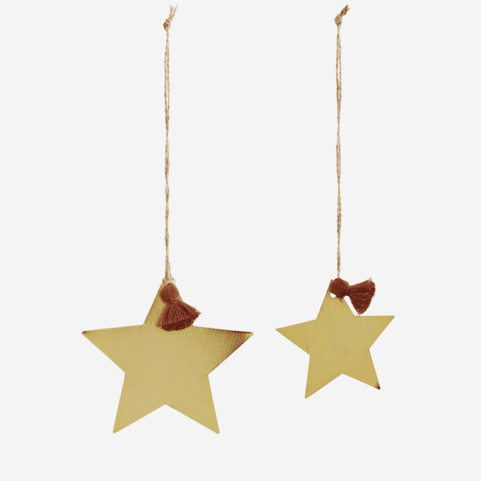 Lot de deux étoiles à suspendre
