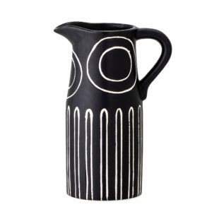 Vase TROY noir et blanc