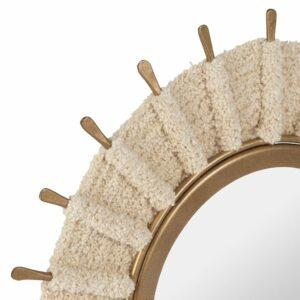 Miroir KORDA naturel et doré 30cm