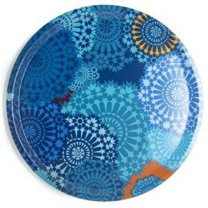 Plateau en bois Mosaic Blue