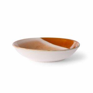 Assiette creuse collection 70's coloris HILLS