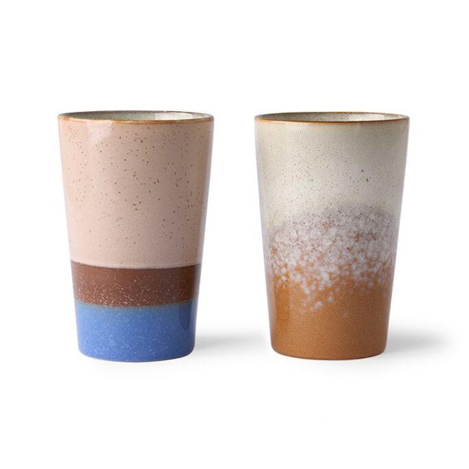 Mug à thé collection 70's JUPITER (beige orangé)
