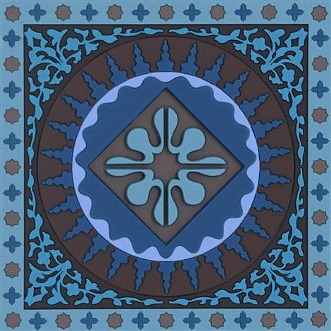 Sous-verre Mosaic Blue