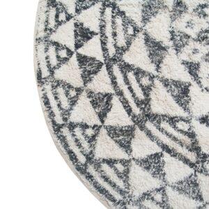Tapis rond en coton 80cm