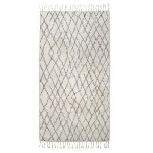 Tapis rectangulaire en coton 90X175
