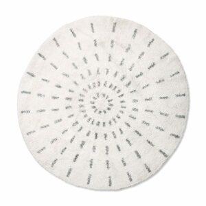 Tapis rond en coton SWIRL 120cm