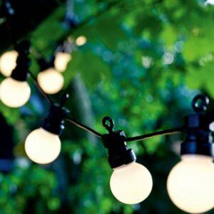 Guirlande LED solaire LUCAS blanc frost