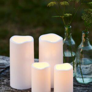 Set de 2 bougies LED d'extérieur STORM mini