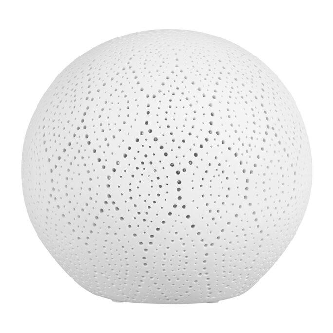 Lampe boule dentelle en porcelaine