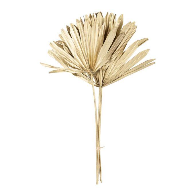 Branchage palmier doré