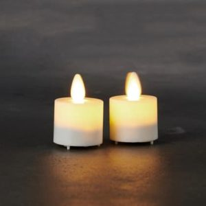 Set de 2 bougies LED SARA blanche