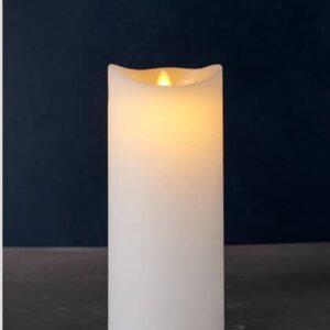 Bougie LED SARA cire amande 25cm