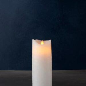 Bougie LED SARA cire blanche 20cm