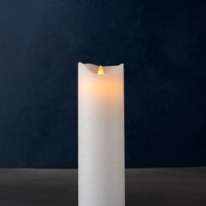 Bougie LED SARA cire blanche 25cm