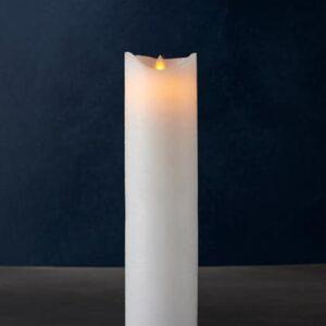 Bougie LED SARA cire blanche 30cm