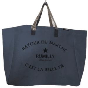 Sac Retour de Marché Rumilly coloris bleu jean
