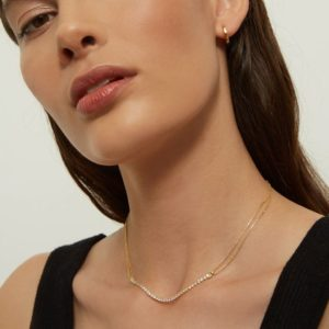 Collier WHITE TRACY SILVER