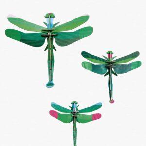 Insecte Décor mural set de 3 GIANT DRAGONFLIES