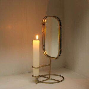 Bougeoir anneau et miroir