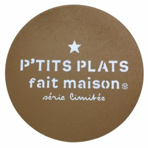 Dessous de plat en liège P'TITS PLATS FAIT MAISON coloris curcuma