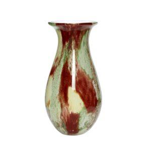 Vase multicolore en verre
