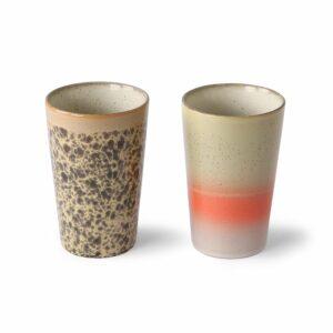 Mug à thé collection 70's INK (beige orange)