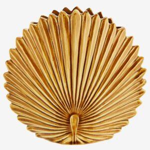 Vase Feuille de palme jaune