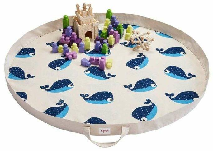 Tapis de jeu repliable et transportable Baleine