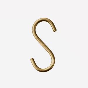 Crochet S doré 6,5X3CM