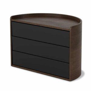 Boîte à bijoux MOONA Noir/Noyer