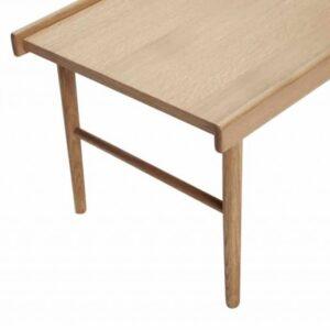 Table avec rebords en chêne FSC